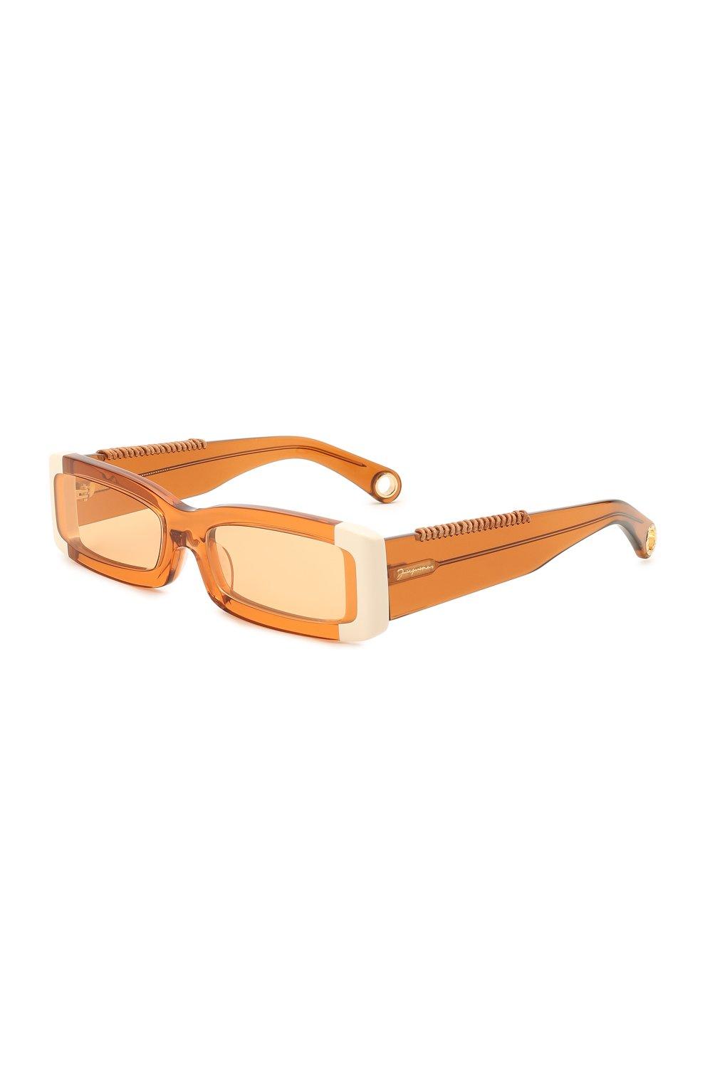 Женские солнцезащитные очки JACQUEMUS оранжевого цвета, арт. LES LUNETTES 97 SHADE 0F 0RANGE | Фото 1