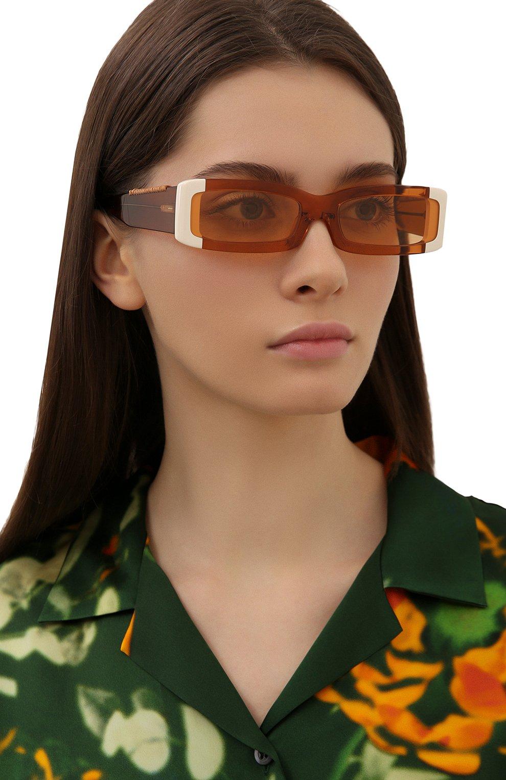 Женские солнцезащитные очки JACQUEMUS оранжевого цвета, арт. LES LUNETTES 97 SHADE 0F 0RANGE | Фото 2