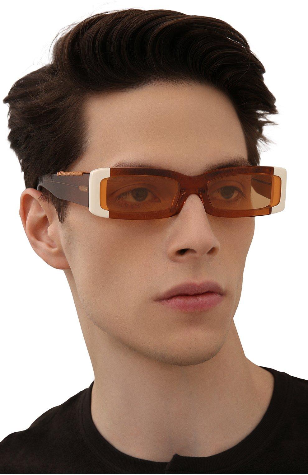 Женские солнцезащитные очки JACQUEMUS оранжевого цвета, арт. LES LUNETTES 97 SHADE 0F 0RANGE | Фото 3