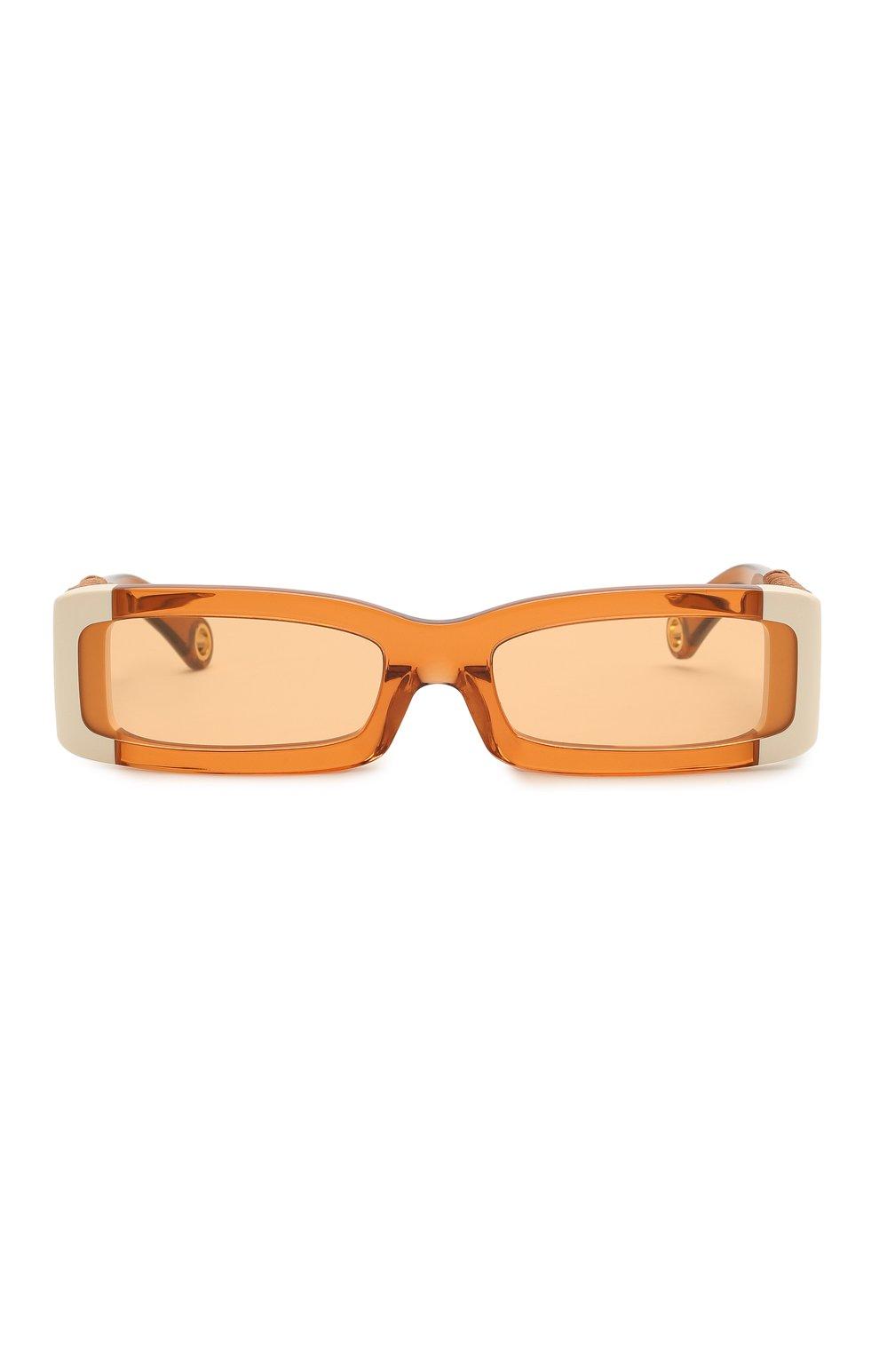 Женские солнцезащитные очки JACQUEMUS оранжевого цвета, арт. LES LUNETTES 97 SHADE 0F 0RANGE | Фото 4