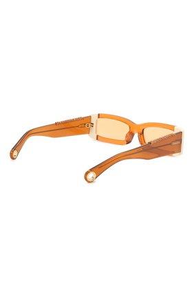 Женские солнцезащитные очки JACQUEMUS оранжевого цвета, арт. LES LUNETTES 97 SHADE 0F 0RANGE | Фото 5