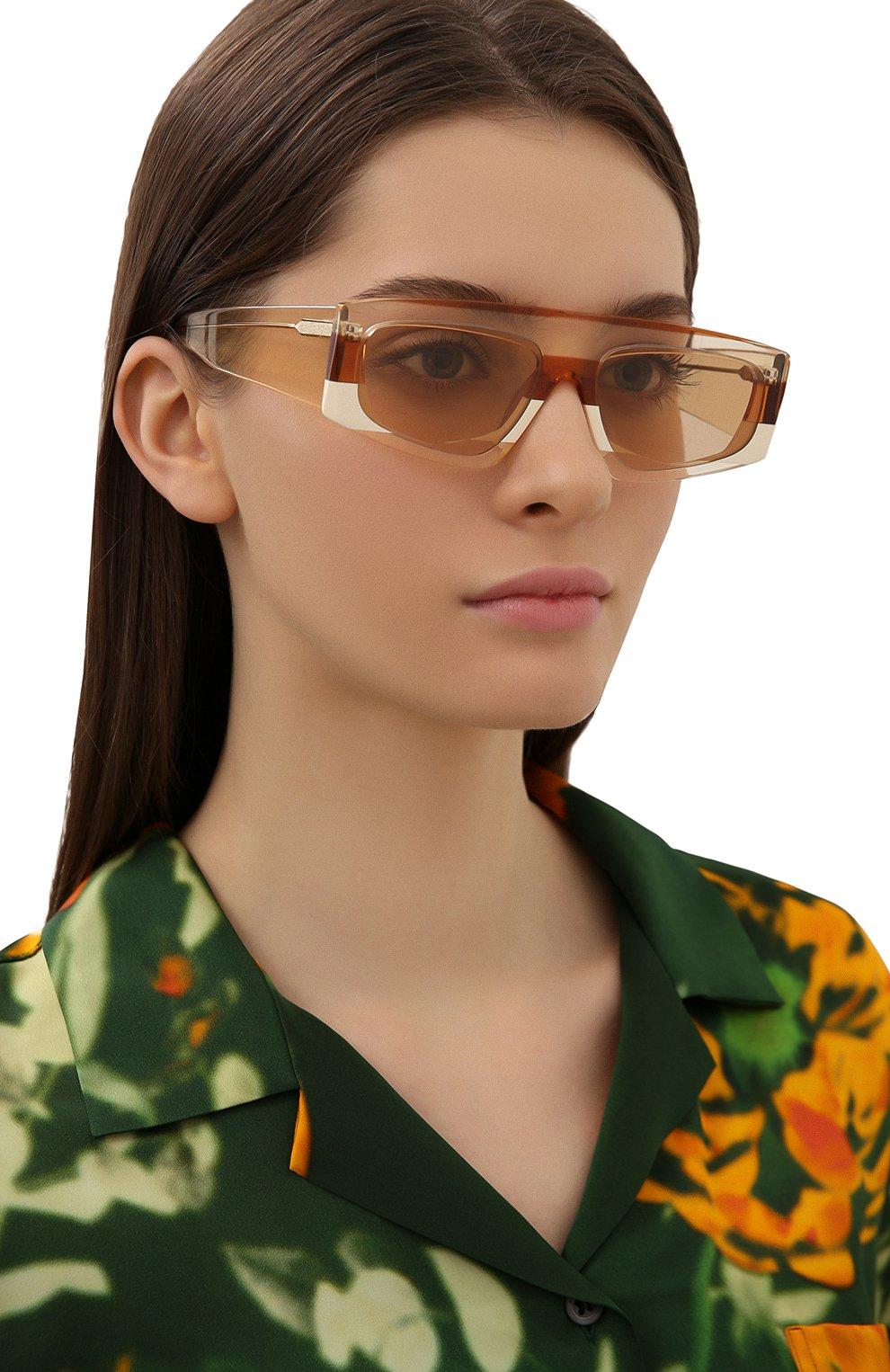 Женские солнцезащитные очки JACQUEMUS оранжевого цвета, арт. LES LUNETTES YAUC0 SHADE 0F 0RANGE | Фото 2