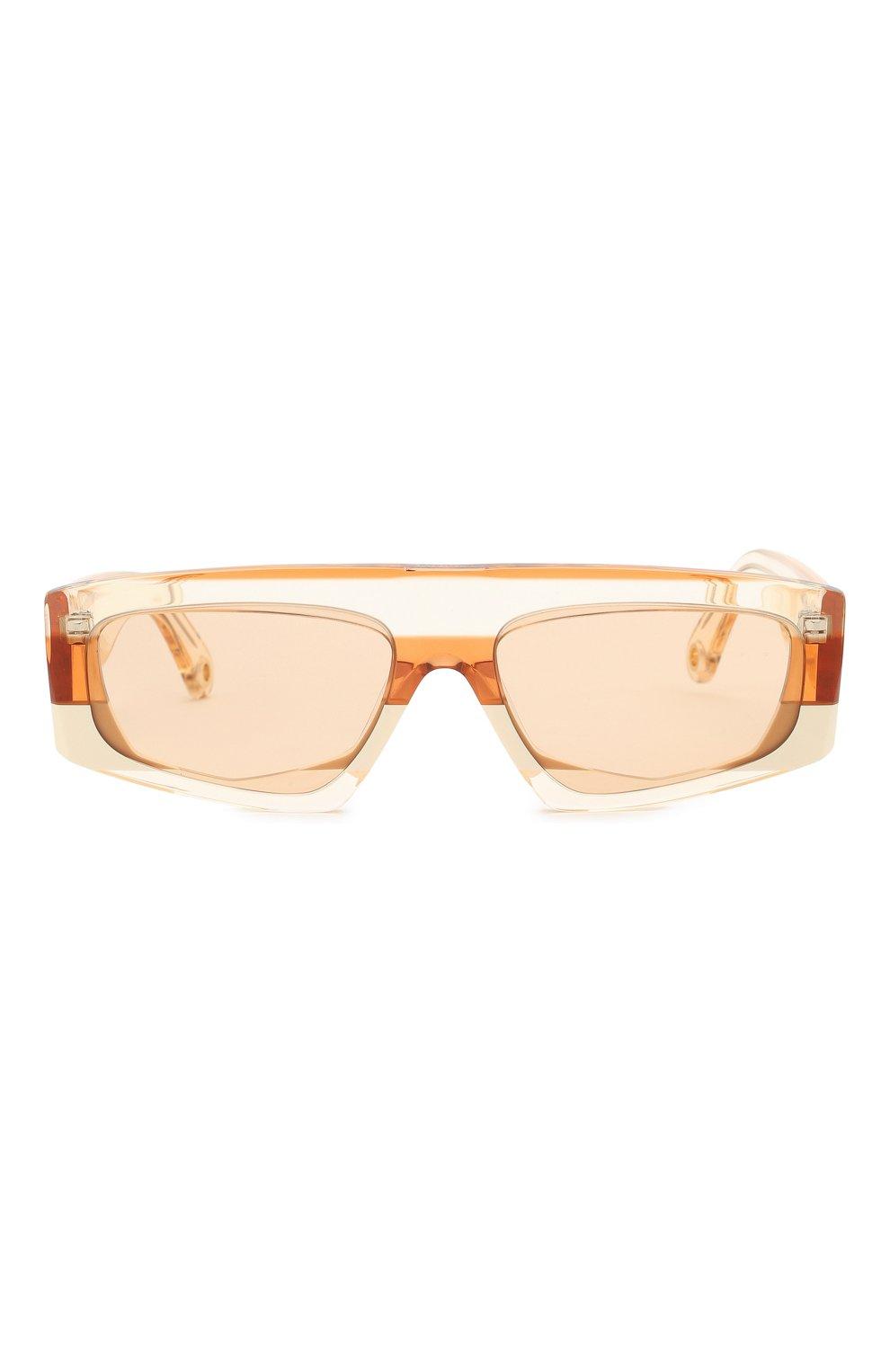 Женские солнцезащитные очки JACQUEMUS оранжевого цвета, арт. LES LUNETTES YAUC0 SHADE 0F 0RANGE | Фото 4