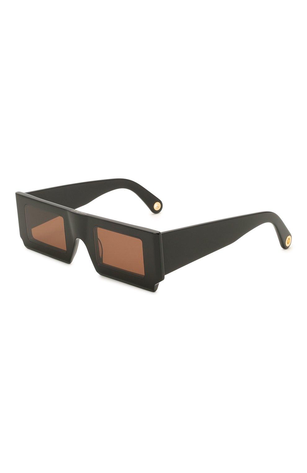 Женские солнцезащитные очки JACQUEMUS черного цвета, арт. LES LUNETTES S0LEIL BLACK | Фото 1
