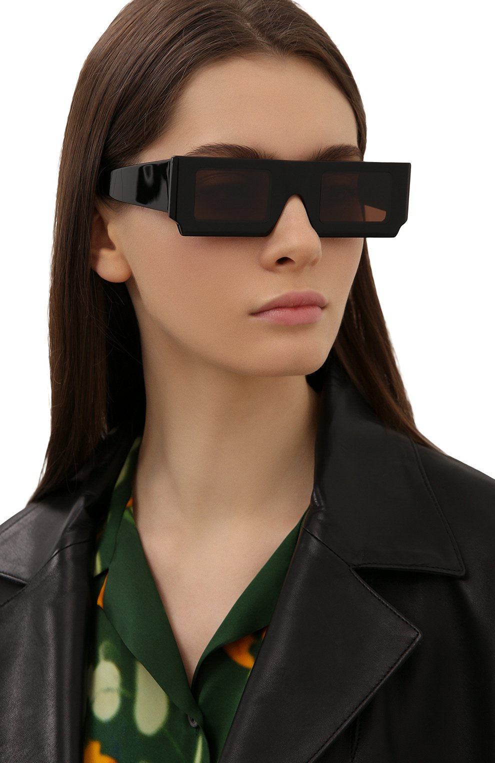 Женские солнцезащитные очки JACQUEMUS черного цвета, арт. LES LUNETTES S0LEIL BLACK | Фото 2
