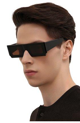 Женские солнцезащитные очки JACQUEMUS черного цвета, арт. LES LUNETTES S0LEIL BLACK | Фото 3