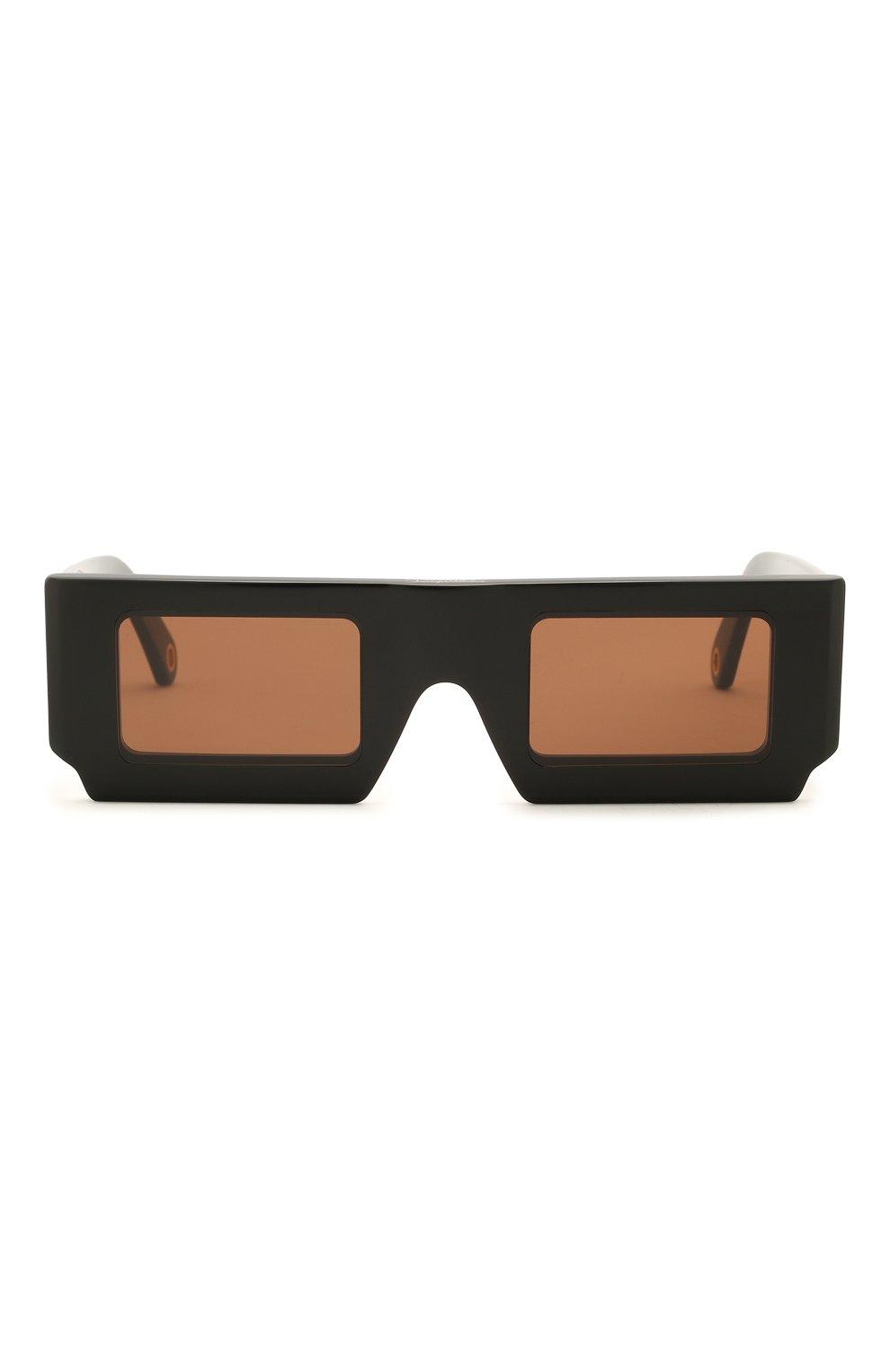 Женские солнцезащитные очки JACQUEMUS черного цвета, арт. LES LUNETTES S0LEIL BLACK | Фото 4