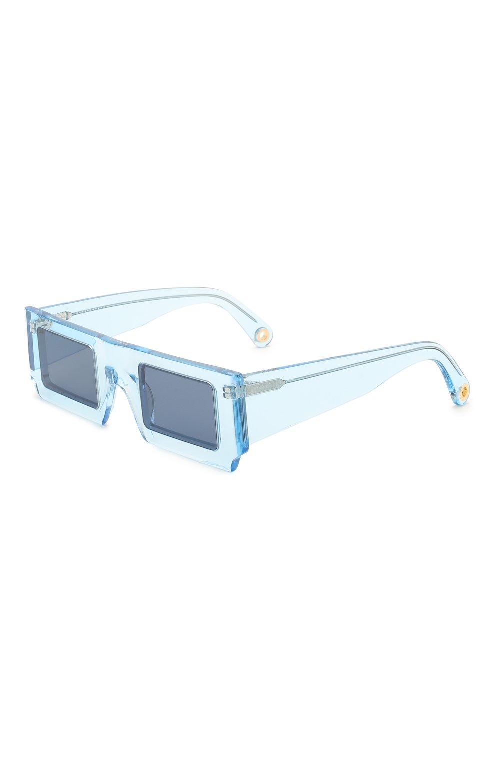 Женские солнцезащитные очки JACQUEMUS голубого цвета, арт. LES LUNETTES S0LEIL SHADE 0F BLUE | Фото 1