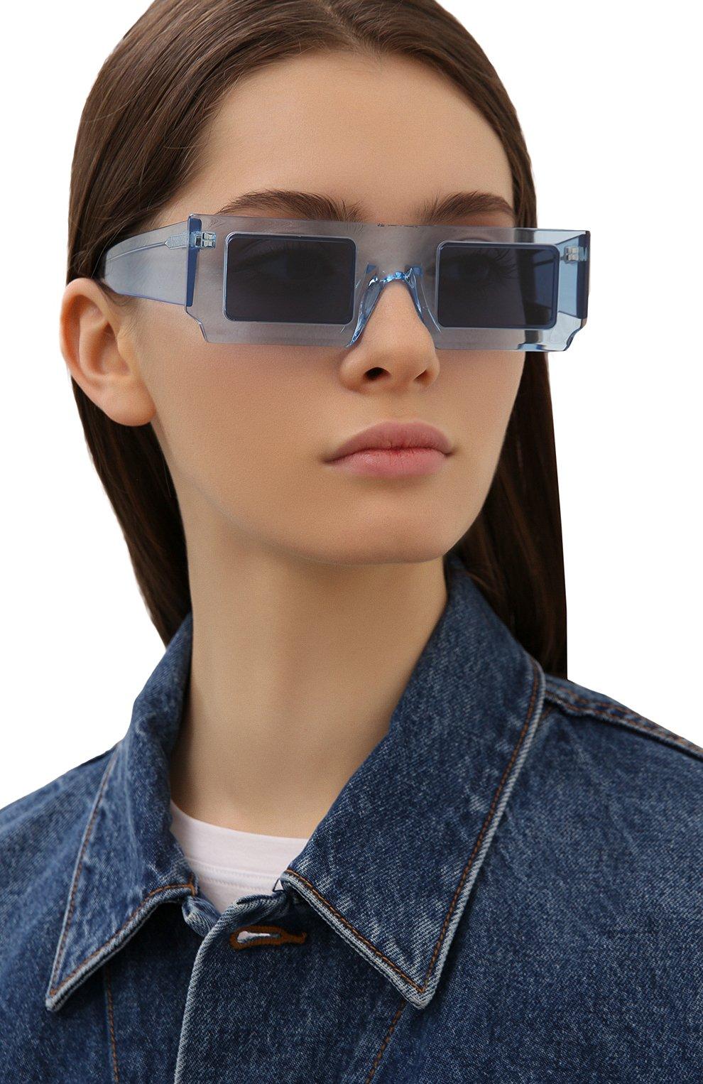Женские солнцезащитные очки JACQUEMUS голубого цвета, арт. LES LUNETTES S0LEIL SHADE 0F BLUE | Фото 2