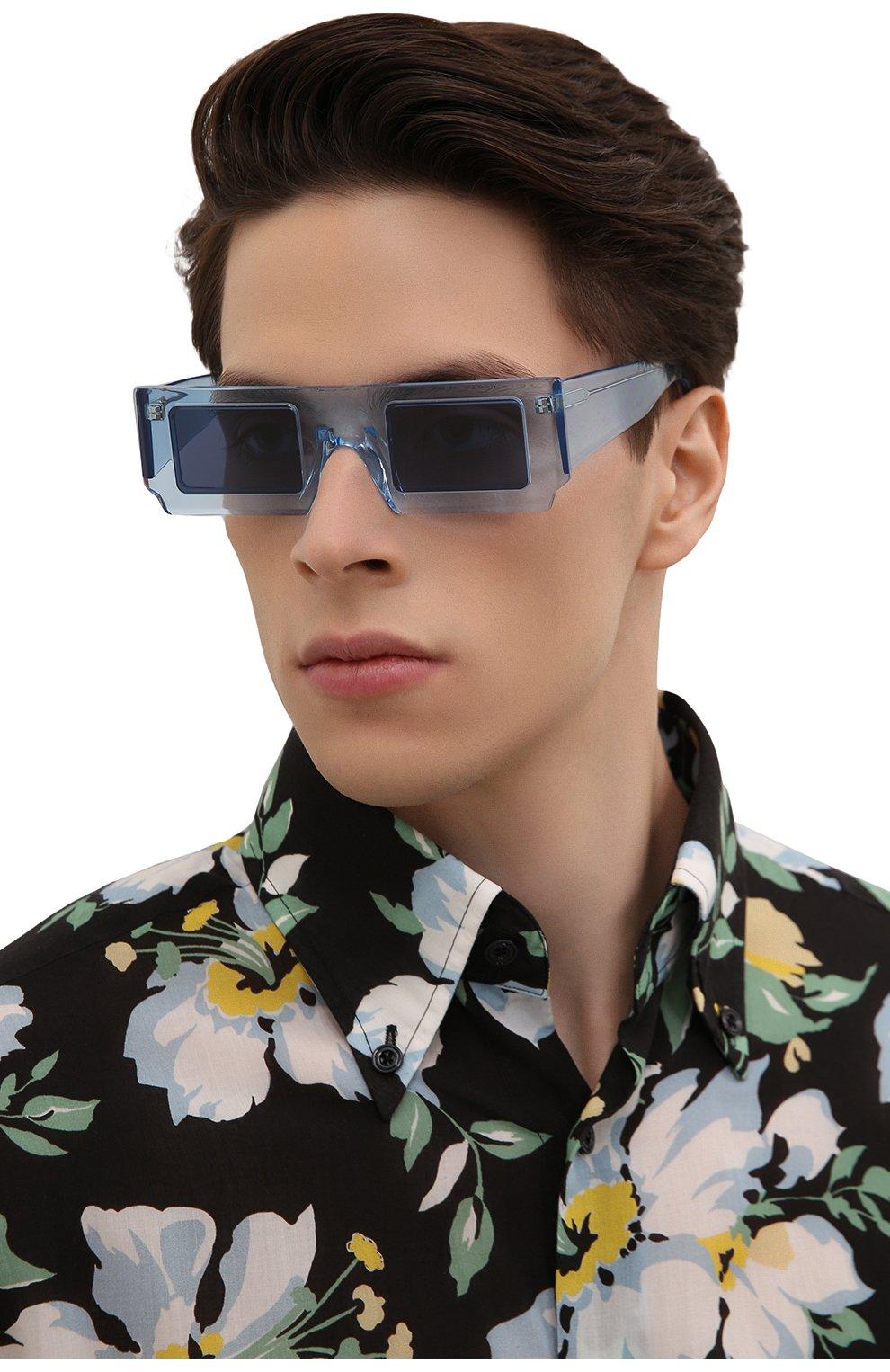 Женские солнцезащитные очки JACQUEMUS голубого цвета, арт. LES LUNETTES S0LEIL SHADE 0F BLUE | Фото 3