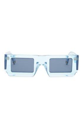 Женские солнцезащитные очки JACQUEMUS голубого цвета, арт. LES LUNETTES S0LEIL SHADE 0F BLUE | Фото 4