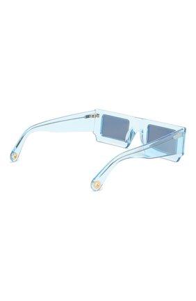 Женские солнцезащитные очки JACQUEMUS голубого цвета, арт. LES LUNETTES S0LEIL SHADE 0F BLUE | Фото 5
