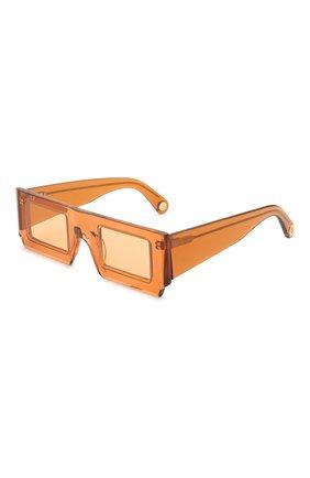 Женские солнцезащитные очки JACQUEMUS коричневого цвета, арт. LES LUNETTES S0LEIL SHADE 0F 0RANGE | Фото 1
