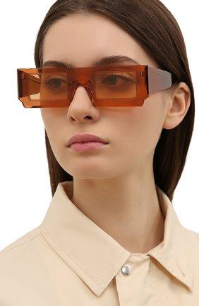 Женские солнцезащитные очки JACQUEMUS коричневого цвета, арт. LES LUNETTES S0LEIL SHADE 0F 0RANGE | Фото 2