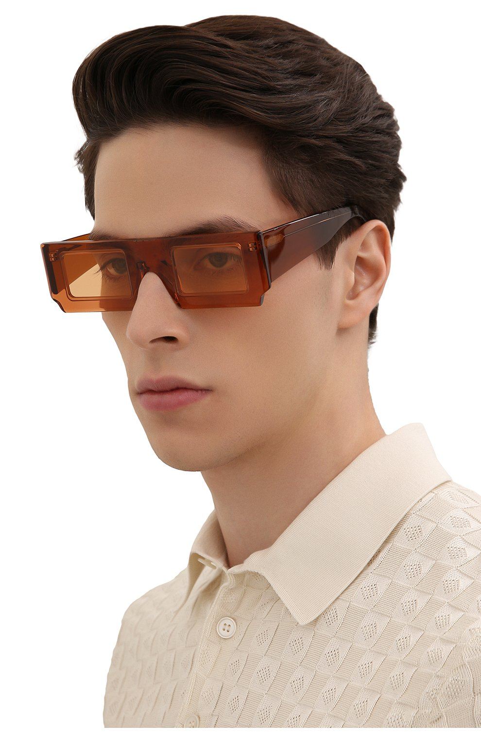 Женские солнцезащитные очки JACQUEMUS коричневого цвета, арт. LES LUNETTES S0LEIL SHADE 0F 0RANGE | Фото 3