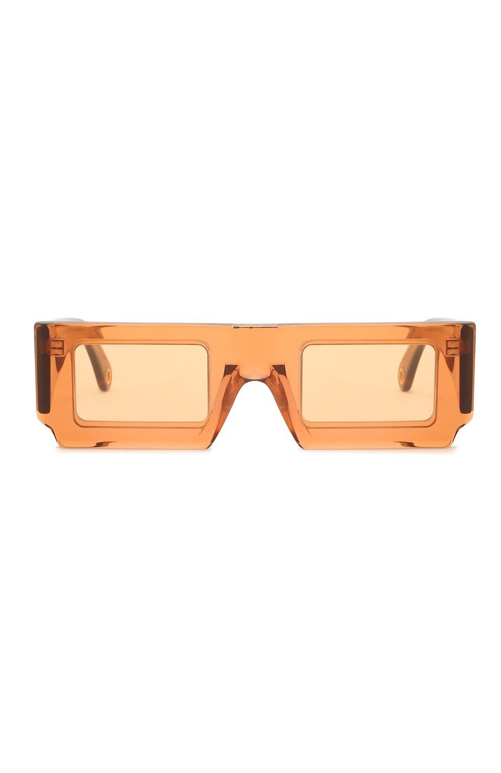 Женские солнцезащитные очки JACQUEMUS коричневого цвета, арт. LES LUNETTES S0LEIL SHADE 0F 0RANGE | Фото 4