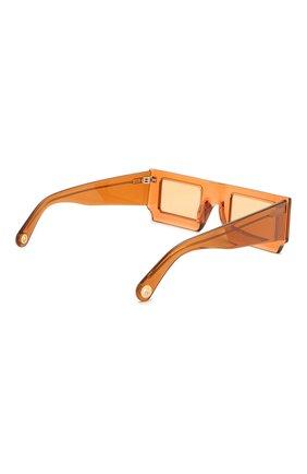 Женские солнцезащитные очки JACQUEMUS коричневого цвета, арт. LES LUNETTES S0LEIL SHADE 0F 0RANGE | Фото 5