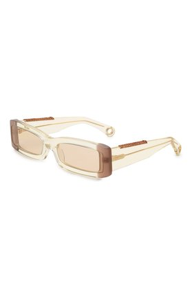 Женские солнцезащитные очки JACQUEMUS бежевого цвета, арт. LES LUNETTES 97 YELL0W | Фото 1