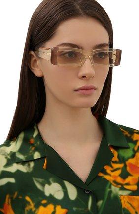 Женские солнцезащитные очки JACQUEMUS бежевого цвета, арт. LES LUNETTES 97 YELL0W | Фото 2
