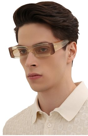 Женские солнцезащитные очки JACQUEMUS бежевого цвета, арт. LES LUNETTES 97 YELL0W | Фото 3