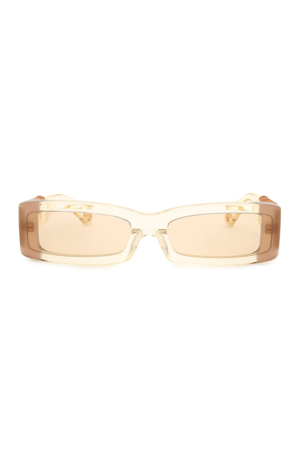 Женские солнцезащитные очки JACQUEMUS бежевого цвета, арт. LES LUNETTES 97 YELL0W | Фото 4