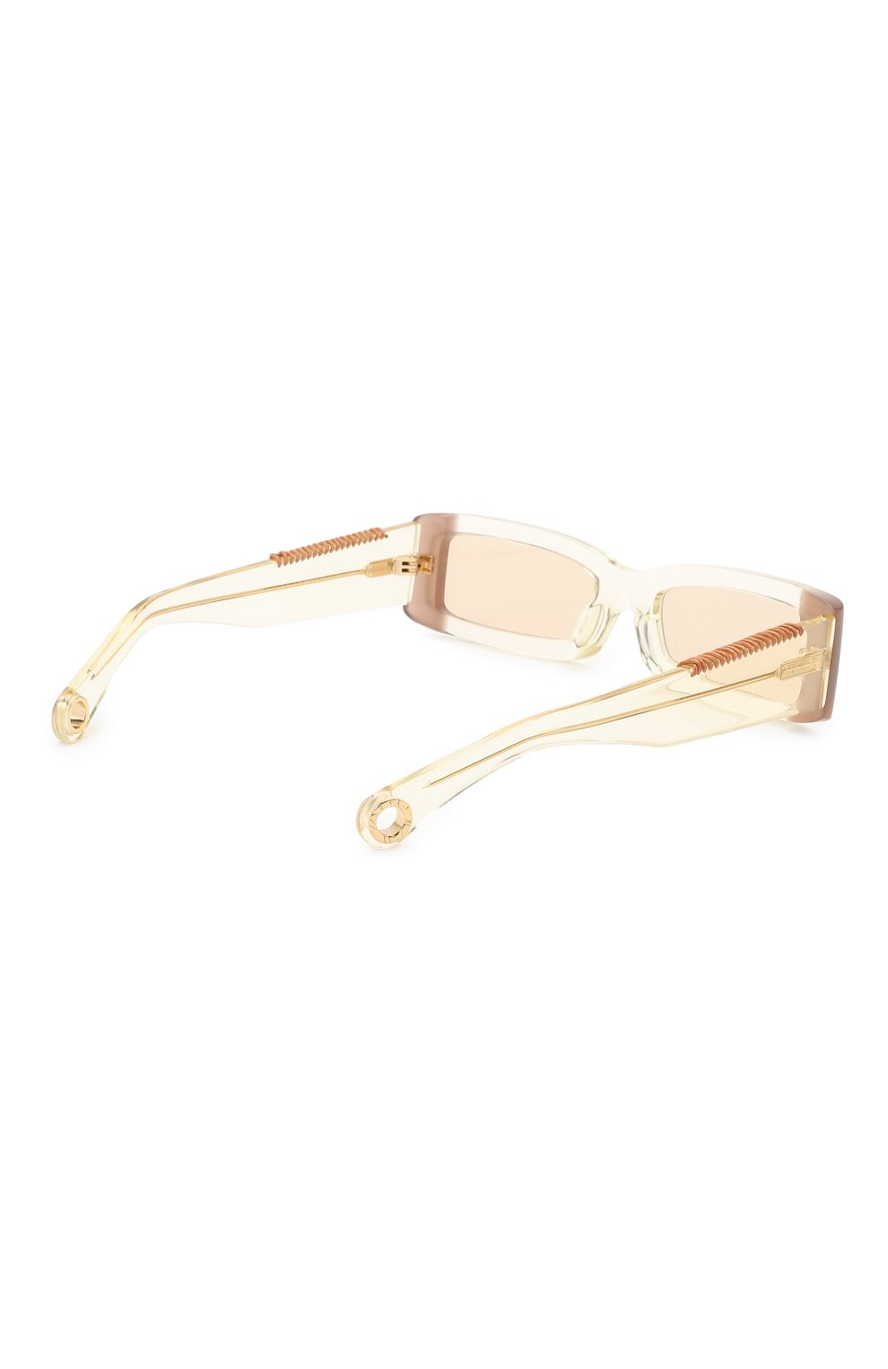 Женские солнцезащитные очки JACQUEMUS бежевого цвета, арт. LES LUNETTES 97 YELL0W | Фото 5