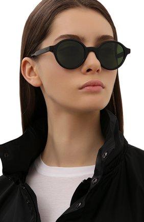 Женские солнцезащитные очки ÉTUDES черного цвета, арт. BAKAY0K0 BLACK   Фото 2