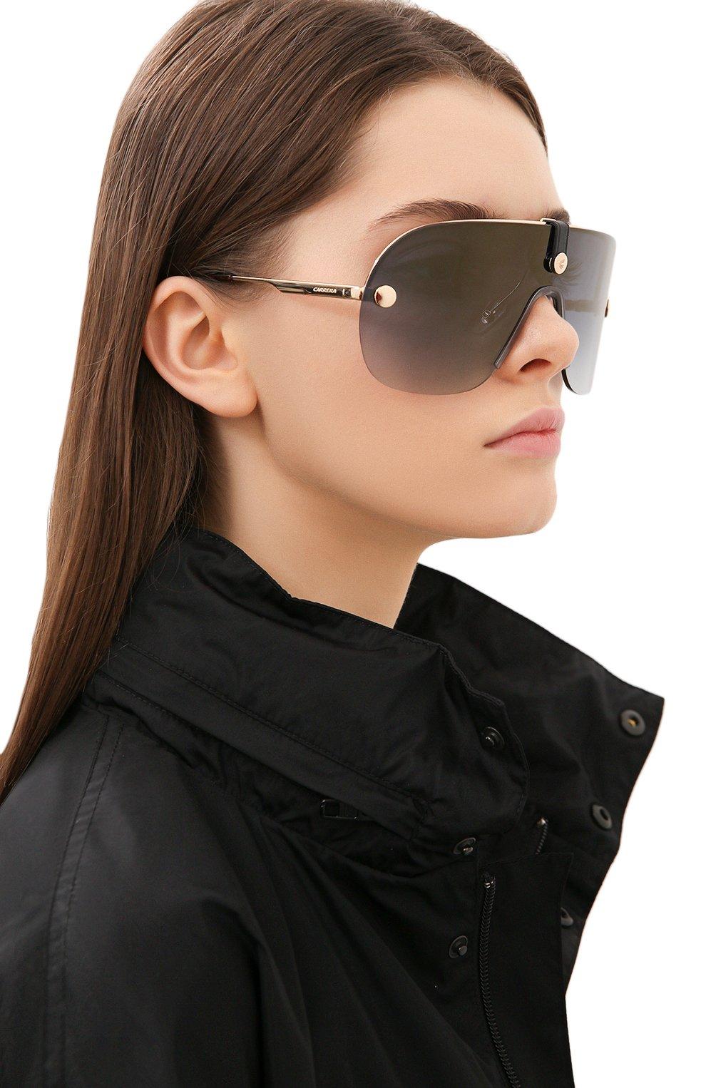 Женские солнцезащитные очки + клип CARRERA золотого цвета, арт. CA EPICA II LKS | Фото 2 (Очки форма: Маска; Тип очков: С/з; Оптика Гендер: оптика-унисекс)