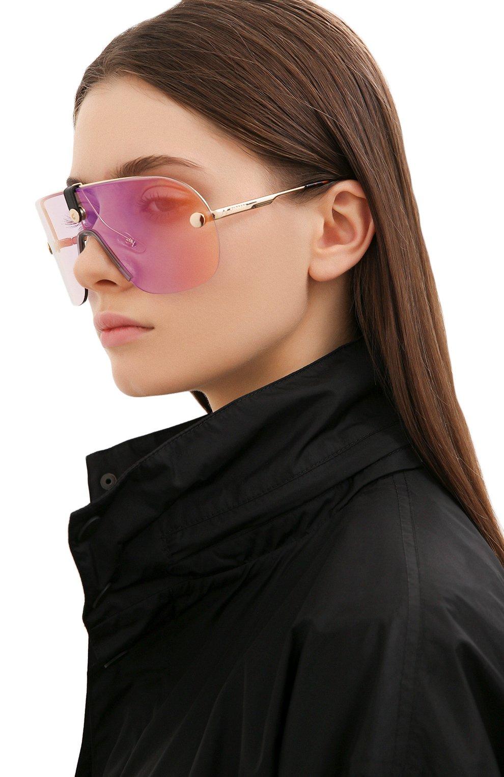 Женские солнцезащитные очки + клип CARRERA золотого цвета, арт. CA EPICA II LKS | Фото 3 (Очки форма: Маска; Тип очков: С/з; Оптика Гендер: оптика-унисекс)