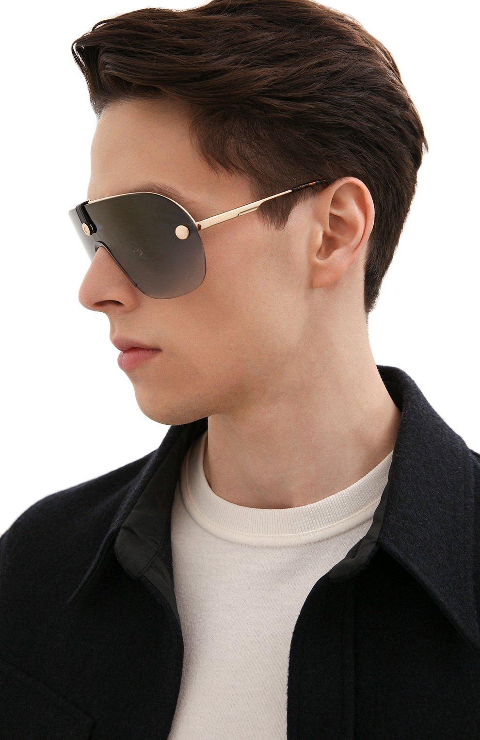 Женские солнцезащитные очки + клип CARRERA золотого цвета, арт. CA EPICA II LKS | Фото 4 (Очки форма: Маска; Тип очков: С/з; Оптика Гендер: оптика-унисекс)