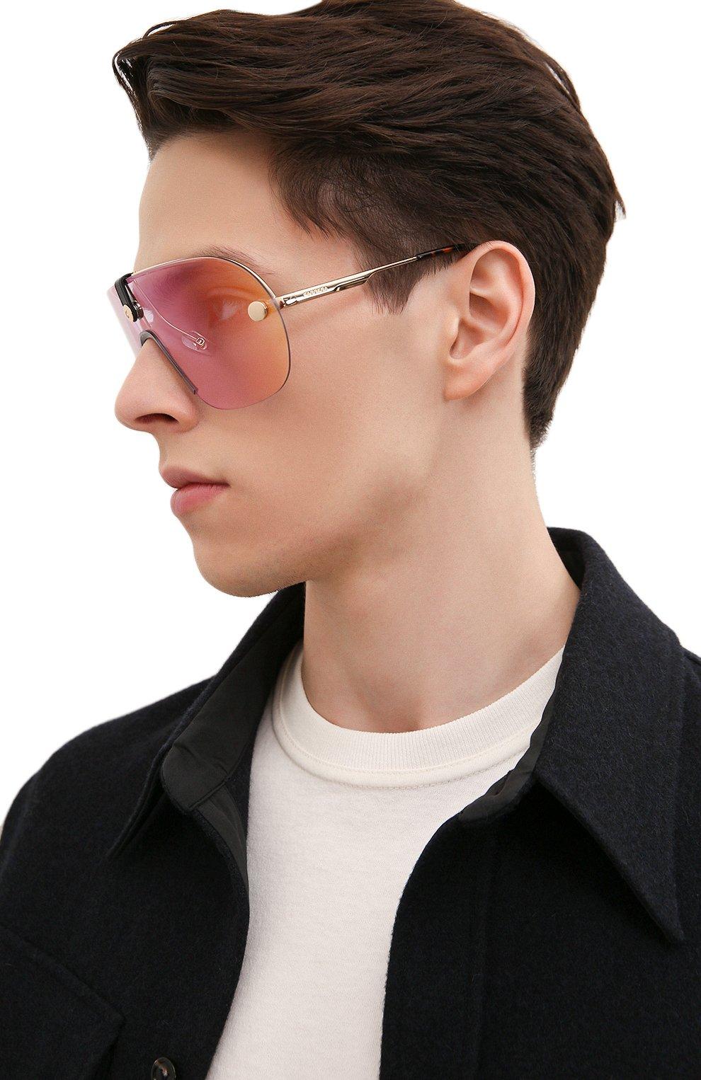 Женские солнцезащитные очки + клип CARRERA золотого цвета, арт. CA EPICA II LKS | Фото 5 (Очки форма: Маска; Тип очков: С/з; Оптика Гендер: оптика-унисекс)