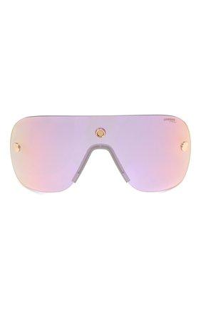 Женские солнцезащитные очки + клип CARRERA золотого цвета, арт. CA EPICA II LKS | Фото 8 (Очки форма: Маска; Тип очков: С/з; Оптика Гендер: оптика-унисекс)