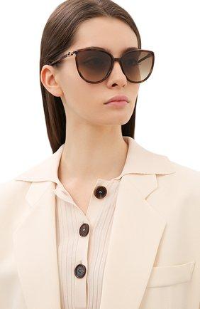 Женские солнцезащитные очки FENDI коричневого цвета, арт. 0459 086   Фото 2