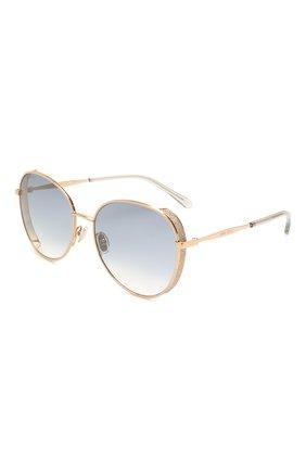 Женские солнцезащитные очки JIMMY CHOO золотого цвета, арт. FELINE 000 | Фото 1