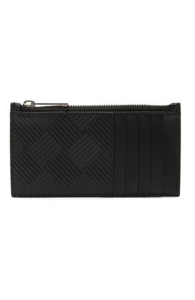 Мужской кожаный футляр для кредитных карт BOTTEGA VENETA черного цвета, арт. 657125/V0SQ3 | Фото 1