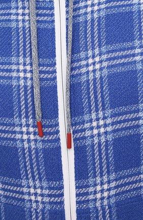 Мужской кардиган из кашемира и льна KITON синего цвета, арт. UMC010K06T0813   Фото 5