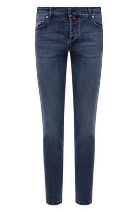 Мужские джинсы KITON голубого цвета, арт. UPNJS/J07T22 | Фото 1