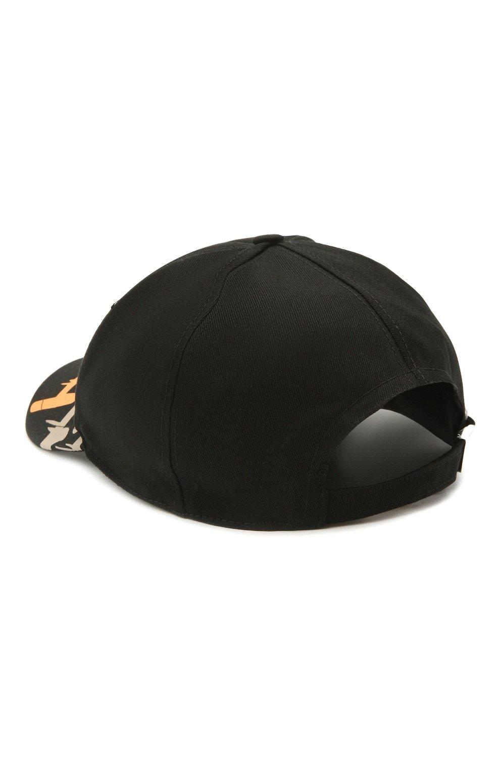 Мужской хлопковая бейсболка ICEBERG черного цвета, арт. 21E I1P1/7100/6920   Фото 2