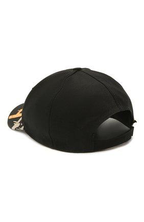 Мужской хлопковая бейсболка ICEBERG черного цвета, арт. 21E I1P1/7100/6920 | Фото 2