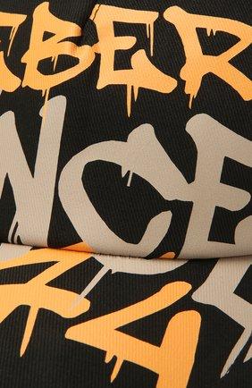 Мужской хлопковая бейсболка ICEBERG черного цвета, арт. 21E I1P1/7100/6920   Фото 3