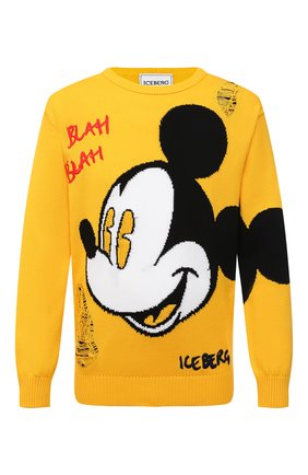 Мужской хлопковый свитер ICEBERG желтого цвета, арт. 21E I1P0/A020/7604 | Фото 1
