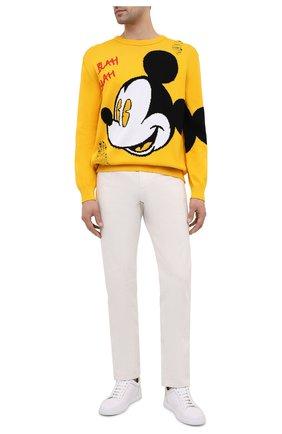 Мужской хлопковый свитер ICEBERG желтого цвета, арт. 21E I1P0/A020/7604 | Фото 2