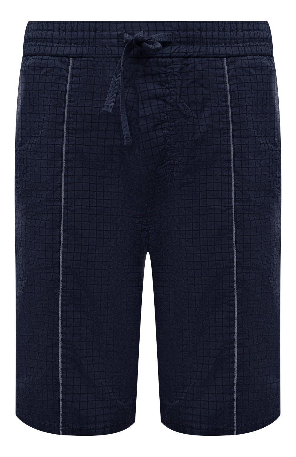 Мужские шорты ICEBERG синего цвета, арт. 21E I1P0/D060/5145   Фото 1 (Мужское Кросс-КТ: Шорты-одежда; Длина Шорты М: До колена; Принт: Без принта; Материал внешний: Синтетический материал; Стили: Спорт-шик)