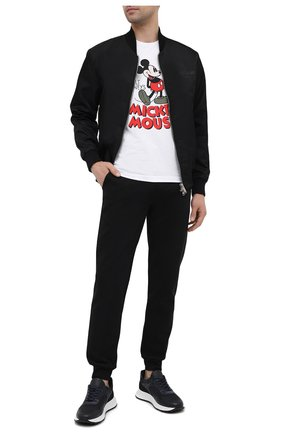Мужская хлопковая футболка ICEBERG белого цвета, арт. 21E I1P0/F011/6309 | Фото 2 (Материал внешний: Хлопок; Длина (для топов): Стандартные; Рукава: Короткие; Принт: С принтом; Стили: Гранж)