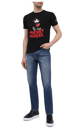Мужская хлопковая футболка ICEBERG черного цвета, арт. 21E I1P0/F011/6309 | Фото 2