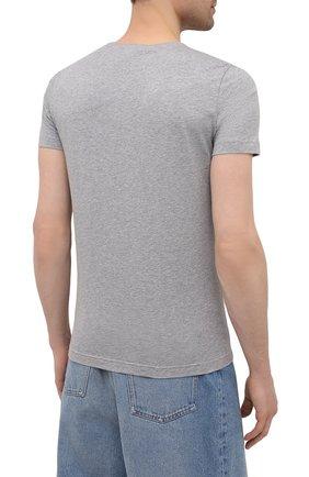 Мужская хлопковая футболка ICEBERG серого цвета, арт. 21E I1P0/F016/6301 | Фото 4 (Рукава: Короткие; Длина (для топов): Стандартные; Стили: Гранж; Принт: С принтом; Материал внешний: Хлопок)
