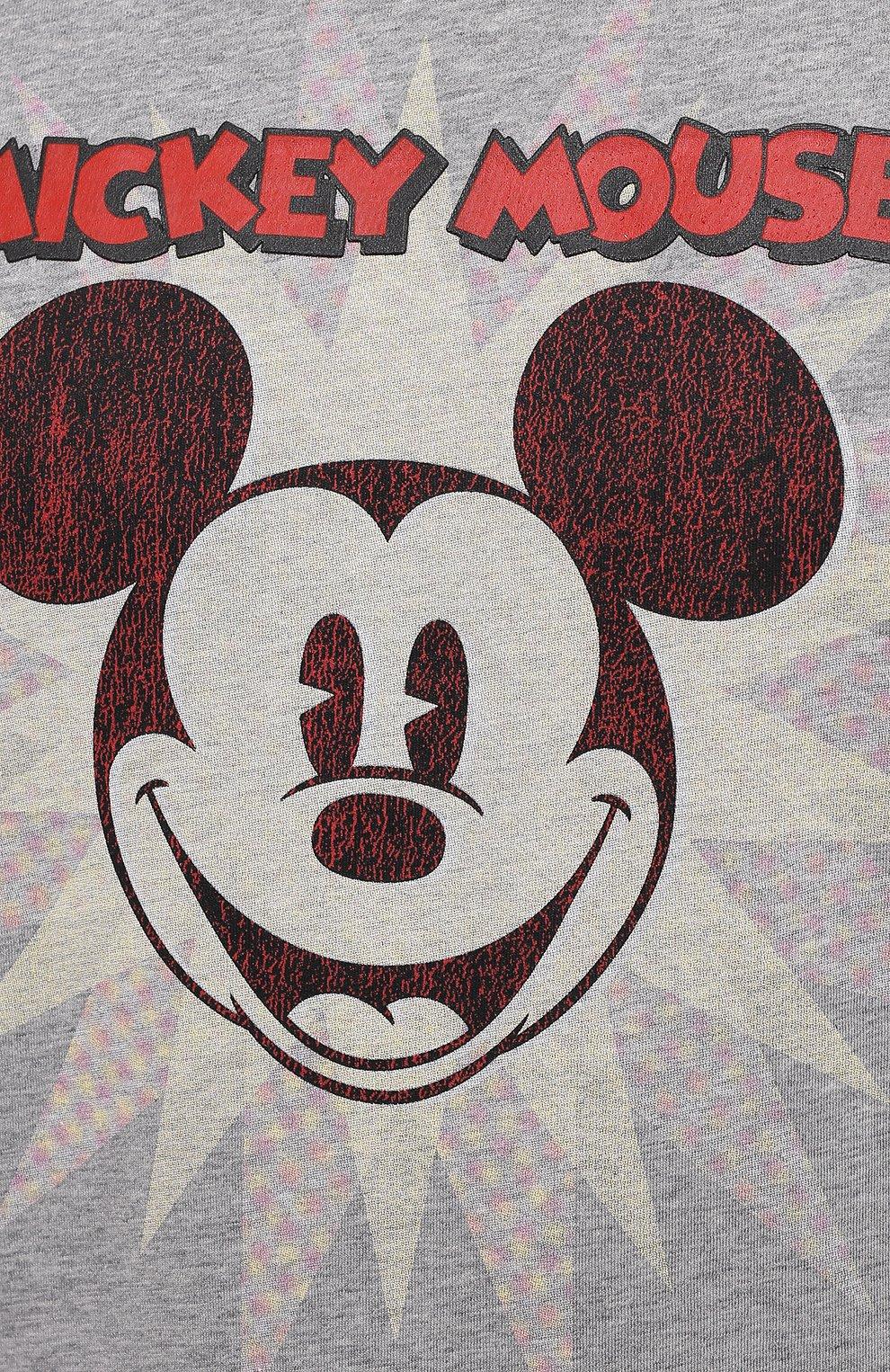 Мужская хлопковая футболка ICEBERG серого цвета, арт. 21E I1P0/F016/6301 | Фото 5 (Рукава: Короткие; Длина (для топов): Стандартные; Стили: Гранж; Принт: С принтом; Материал внешний: Хлопок)