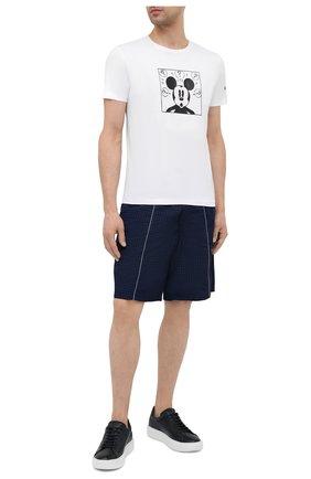 Мужская хлопковая футболка ICEBERG белого цвета, арт. 21E I1P0/F017/6301 | Фото 2