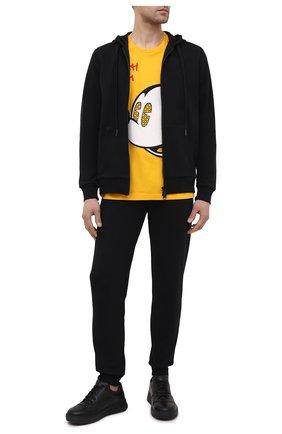 Мужская хлопковая футболка ICEBERG желтого цвета, арт. 21E I1P0/F024/6301 | Фото 2