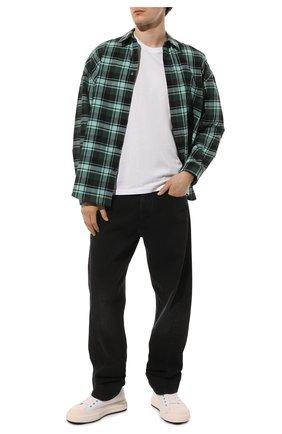 Мужская хлопковая футболка ICEBERG белого цвета, арт. 21E I1P0/F026/6301 | Фото 2 (Материал внешний: Хлопок; Длина (для топов): Стандартные; Рукава: Короткие; Стили: Гранж; Принт: С принтом)
